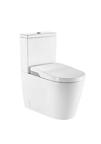 Roca A803061001 – In-wash – smart toilet adosado a pared con salida dual. incluye cisterna, tapa y asiento. necesita toma de red.