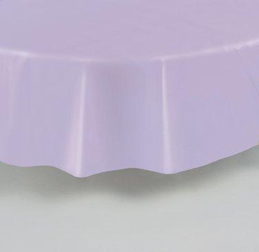 Nappe ronde en plastique lavande 213 cm - taille - Taille Unique - 209992