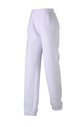 Damen Jogginghose aus formbeständiger Sweat-Qualität, Farbe:white;Größe:M