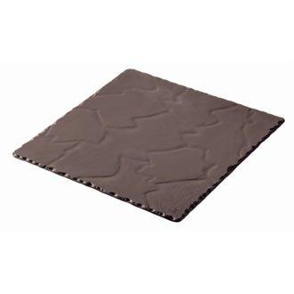 Revol DP930 Basalte Assiette carrée, Noir (Lot de 6)