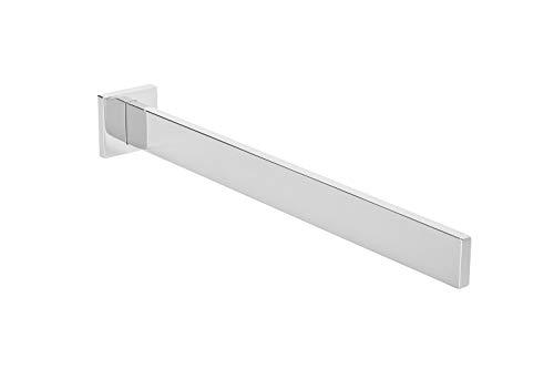 Gedotec Handtuchstange Bad Wand-Handtuchhalter Chrom poliert Handtuch-Aufhänger eckig - Modell Lumina | Länge 325 mm | Aluminium massiv | 1 Stück inkl. Befestigungsmaterial