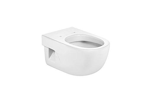 Roca A346247000 Colección Meridian – Taza Suspendida con salida Horizontal, Blanco (asiento y tapa no incluido)