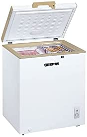 Geepas Chest Freezer 145 Litre, 5.1 Cft