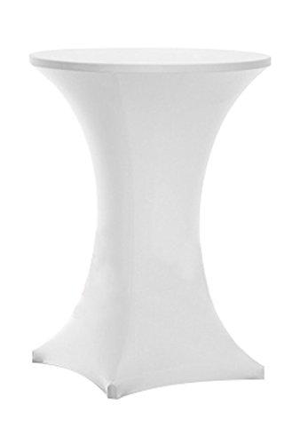 awillhome highboy Cocktail ausgestattet Spandex Stretch Tisch Husse Tischdecke, Bistro Tisch, Poser (Person), Tischdecke, Aufrechtes 4Beine, Textil, weiß, 30inx43in high -