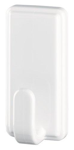 tesa selbstklebender Haken, bis 2kg, wieder ablösbar, eckig, weiß, 2 Stück