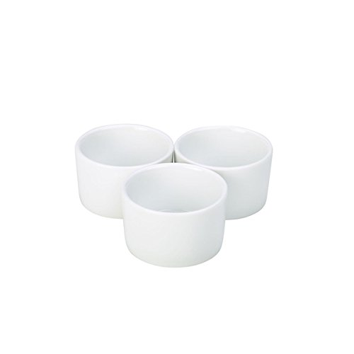Nextday Catering Equipment Supplies nev-ramcon8-w Royal contemporáneo suave Ramekin, 8 cm (Pack de...