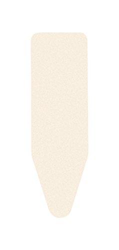 Brabantia Größe C Extra Dick Filz und Schaumstoff-Unterlage Bügelbrett, 124,5x 45,7cm Ecru