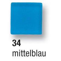 Mosaik Kunstharz Glänzend 10x10mm 45g Mittelblau [Spielzeug] - Mosaik Kunstharz