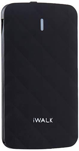 iWALK Duo 3000 Powerbank schwarz 3000mAh integriertes Lightning+MicroUSB Kabel kreditkartenformat Di