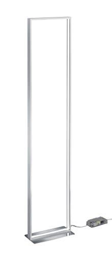 Trio Leuchten Azur 479910105 LED Stehleuchte, 26 Watt, Aluminium Gebürstet, Fußdimmer - Chrom-gebürstet Stehleuchte