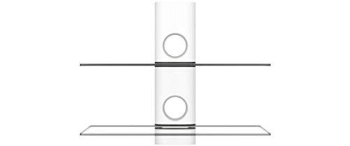 NEG Multimedia TV-Rack Suspender 502W (weiß) mit 2 Glas-Ablagen und Kabelmanagement-System