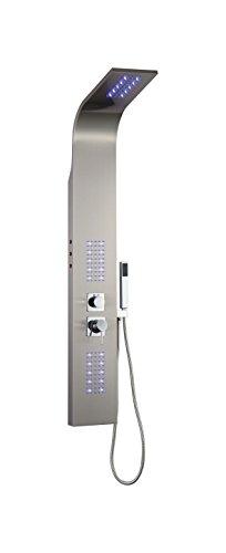 LED Edelstahl 304 Duschpaneel Dusche Regendusche Duschsäule Massage Antikalk