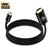 Azlink USB C a HDMI Cavo, USB tipo C a HDMI 4K 60Hz Thunderbolt 3Dell XPS 1315, Mac, MacBook Pro, Chromebook Pixel, Surface Book 23, Samsung Galaxy Book S8S9più–1,8m/1.8m