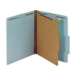 office-depot-classification-folders-1-3-4in-expansion-letter-size-1-divider-60-recycled-blue-pack-of