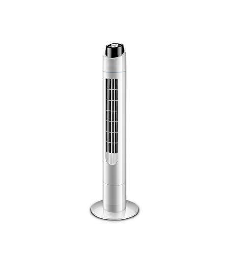 WQZB-Kondensatorventilatoren Tower Fan Cooling Mute Lüfter für Heim und Büromaschinen und Negative Ionen Luftreinigung - Weiß 50W (H 110 × B 31 × T 31cm)