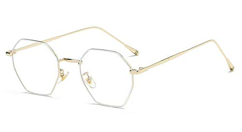 zywddp Ultra-Light Flat Mirror, Decorated with Versatile Glasses, White Gold Frame