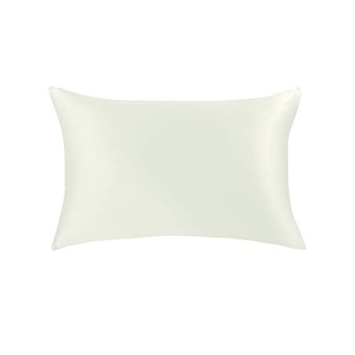 Jasmine Silk Luxus 100% Seide Kissenbezug Silk pillowcase (Ivory) 50x75cm -