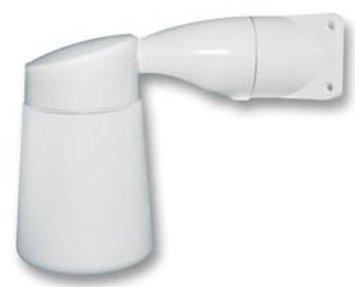Eterna Vercelli Lampe für Außenbeleuchtung, zum Anbringen auf Wand oder in Ecke, aus Aluminiumdruckguss, mit Milchglas-Diffusor, für Bayonettglühbirnen von max. 100 W (100w Milchglas-lampe)