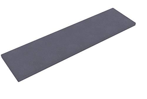 INWONA IKEA Kallax Regal Sitzauflage 146 x 39 x 4 cm Sitzpolster Sitzbank-Auflage Sitzkissen/Auflage für Sideboard als Sitzbank/unempfindlicher Bezug/Farbe GRAU ANTHRAZIT