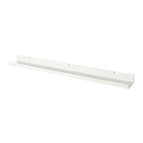 Ikea 990039 Mensola Per Quadri Mosslanda, Fibra Di Legno/Lamina, Bianco,  116x12x8 Cm