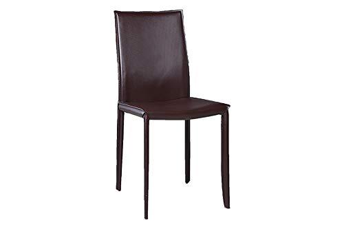 DuNord Design Esszimmerstuhl Konferenzstuhl Küchenstuhl Stuhl Verona Coffee echtes Leder