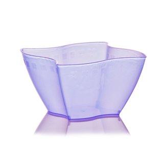 Lot de 50 coupelles Lilas Elika 550 ml jetables en plastique transparent