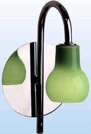 Badlampe DROP grün chrom Wandleuchte 1x 40W Lampe