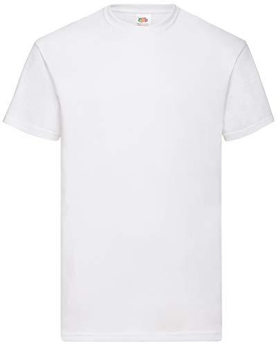 Fruit of the Loom 8 Shirts Valueweight T Rundhals M L XL XXL 3XL 4XL 5XL Übergröße Diverse Farbsets (M, Weiss)