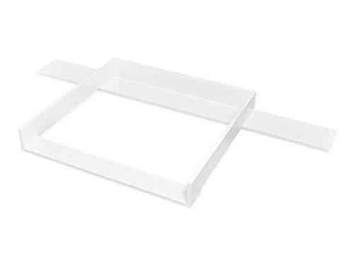 Wickelregal Wickeltisch 2 Ablageböden  Kieferoptik mit Auflage ca 78 x 55 cm