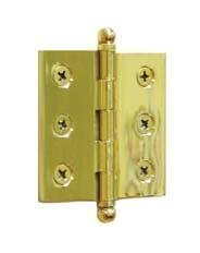Deltana CH3020U26 Solid Brass 3-Inch x 2-Inch Cabinet Hinge with Ball Tips