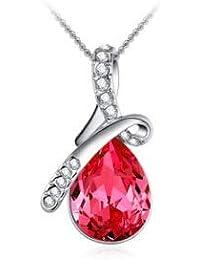 ca1b88046282 LCHNSXL Collar Cristal De Moda Collares Pendientes para Las Mujeres Lujo  Collar De La Joyería De