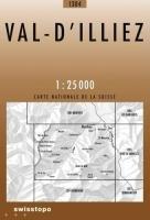 Swisstopo 1 : 25 000 Val-d`Illiez (Landeskarte Der Schweiz)