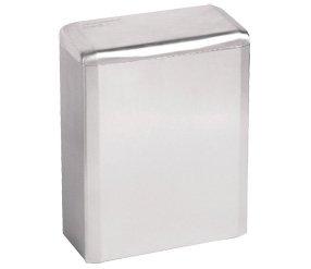 Mediclinics PP0006C - Hygieneabfallbehälter 6 Liter Zur Wandmontage, Farbe:Edelstahl Glänzend