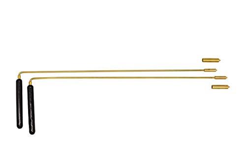 Wünschelrute mit Holzgriff 38 cm und Aufsatzspitze | Radiästhesie Tensoren Pendel Ruten | Esoterik Geschenke günstig online kaufen