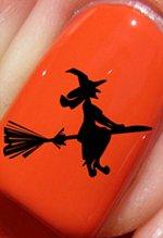 Halloween Sorcière sur balai - Stickers pour ongles YRNAILS