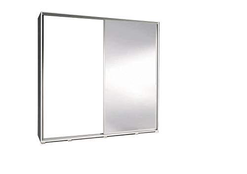 Kleiderschrank mit Spiegel Schrank Garderobe Zweitürenschrank Schwebetürenschrank Schwebetüren...