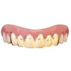 Billy Bob Grillz falschen Zähne (eine Größe, gold)