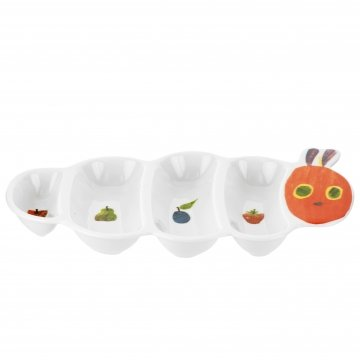 Portmeirion The Very Hungry Caterpillar Caterpillar Shaped Party Plate 30cm by Portmeirion
