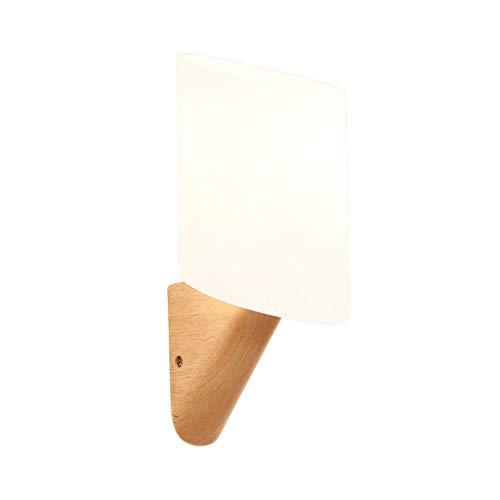 Cxmm Wandleuchte, Moderne minimalistische Schlafzimmer Nachtwandleuchte Creative Study Hall Korridor Gang Lampe Massivholz LED Lampe Nordic Lampe