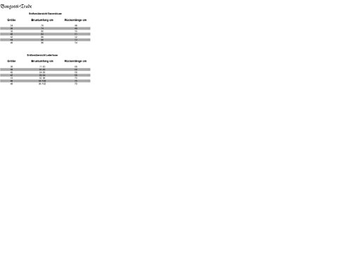 Trachtenset Damen Trachten Lederhose schwarz mit Trachtenbluse rot weiß kariert 48-46 - 7