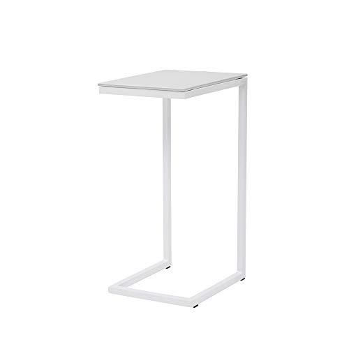 CRIBEL Logico Table en métal Peint et en Verre trempé