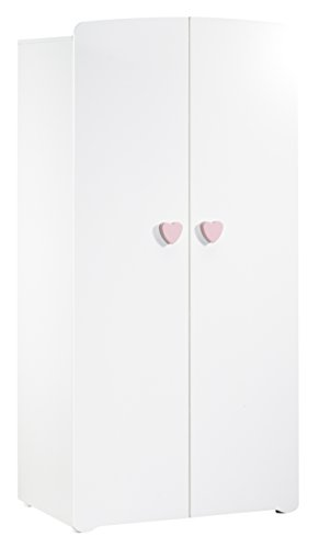 baby-price-new-basic-armoire-chambre-bebe-2-portes-avec-bouton-coeur-rose