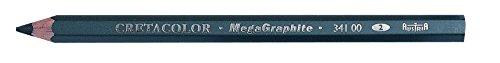 Cretacolor MegaGraphit 42 Bleistifte, Härte 2 in einer schönen Dose