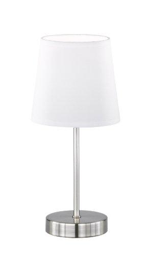 esena 1-flammig, weiß, Ø ca. 14 cm, Höhe ca. 31 cm, Stoffschirm, 832401060000 (Tisch Lampe, Klein)