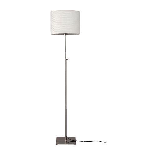 IKEA ALÄNG Standleuchte, vernickelt, weiß