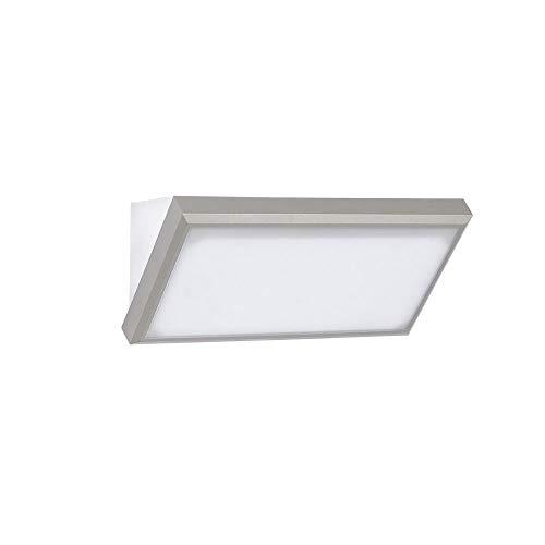 V-TAC 12W Moderne LED Wandleuchte - LED Landschafts-Wandleuchte Medium -Sanftes Licht 6400K Weiß - IP65 Wasserfeste Außenleuchte - Graues Druckguss-Aluminium Gehäuse - Sensorkompatible Wandleuchte - 12 Moderne Landschaft Beleuchtung