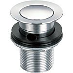 Click Click Ablaufgarnitur für Waschtisch, Chrom auf massivem Messing, hohe Qualität, 3,2 cm (1,25 Zoll)