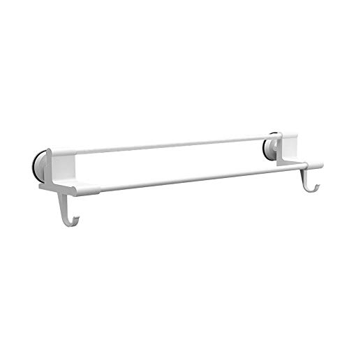 LiTingDz Handtuchhalter Free Punching Bad Rack Nagel-freie Haken Badezimmer Lappen Regal Saugnapf Handtuchhalter (Size : 50.5CM)