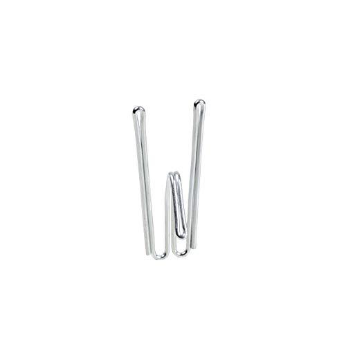 Himla Kirsch 2-Fingerhaken - 10er Pack - niedrige Fassung - Gardinenzubehör - Gardinenhaken für Vorhänge, Stores, Gardinenschals - für Gardinenstange und Schiene - vernickeltes Eisen