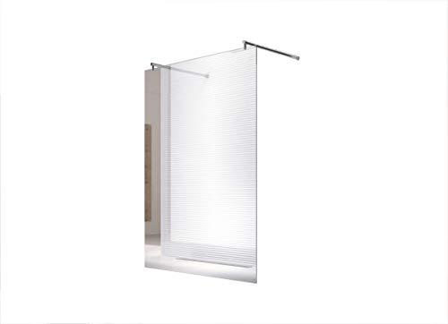 duschwand freistehend 10m Duschwand - Duschabtrennung - Dusche - Walk-In Dusche - Fest & Freistehend - ESG - Varianten (Freistehend-Klarglas (Halterung-Rund-150), 98x200cm)